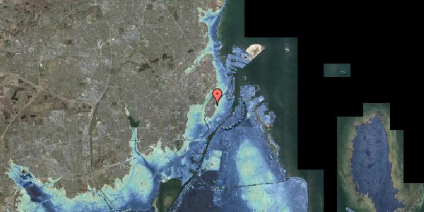 Stomflod og havvand på Gothersgade 135, kl. tv, 1123 København K