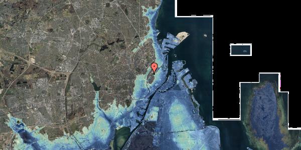 Stomflod og havvand på Gothersgade 147, kl. tv, 1123 København K