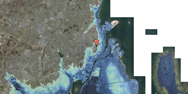 Stomflod og havvand på Gothersgade 152, 2. tv, 1123 København K