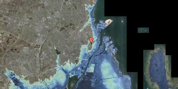 Stomflod og havvand på Gothersgade 154, kl. tv, 1123 København K