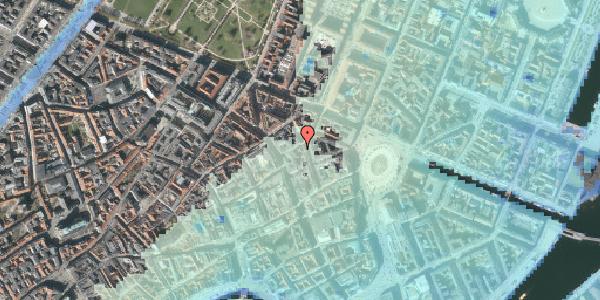 Stomflod og havvand på Grønnegade 16, kl. , 1107 København K