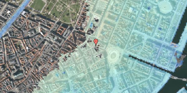 Stomflod og havvand på Grønnegade 32, kl. , 1107 København K