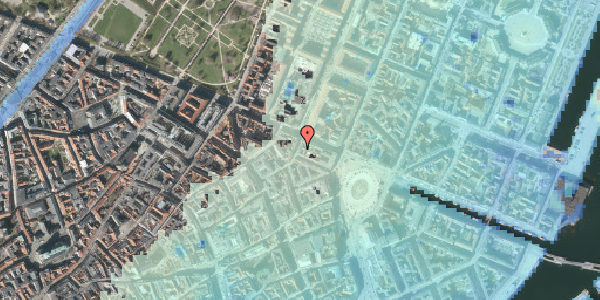 Stomflod og havvand på Grønnegade 36, st. th, 1107 København K