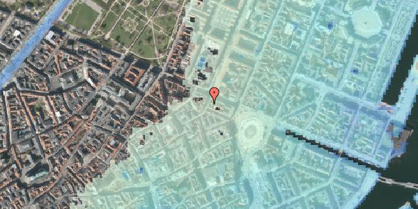 Stomflod og havvand på Grønnegade 36, 3. tv, 1107 København K