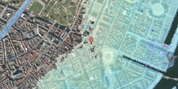 Stomflod og havvand på Grønnegade 37, kl. , 1107 København K