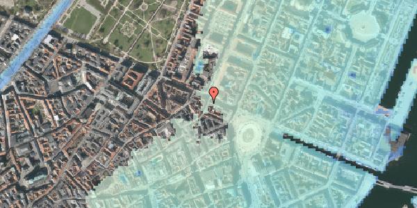 Stomflod og havvand på Grønnegade 38C, kl. , 1107 København K
