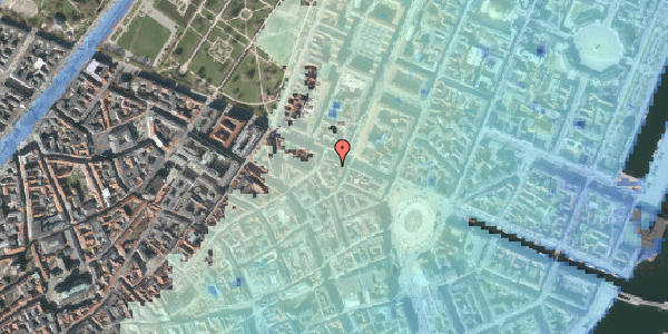 Stomflod og havvand på Grønnegade 41B, 1. , 1107 København K