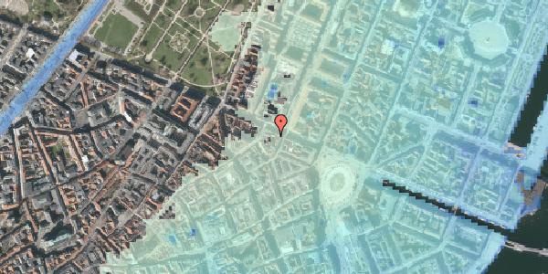 Stomflod og havvand på Grønnegade 41C, kl. , 1107 København K