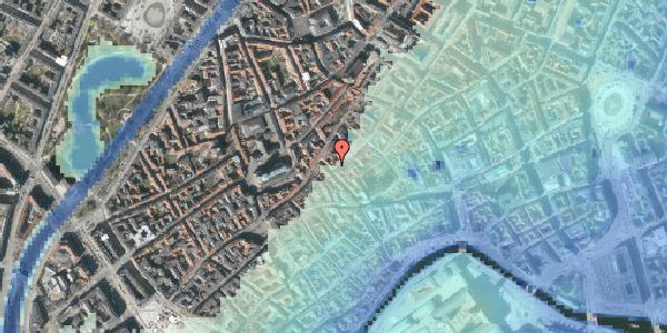 Stomflod og havvand på Gråbrødrestræde 18, kl. , 1156 København K