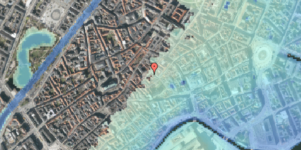 Stomflod og havvand på Gråbrødretorv 3, kl. , 1154 København K