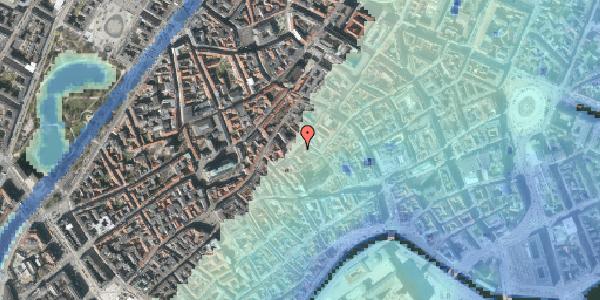 Stomflod og havvand på Gråbrødretorv 7, kl. tv, 1154 København K