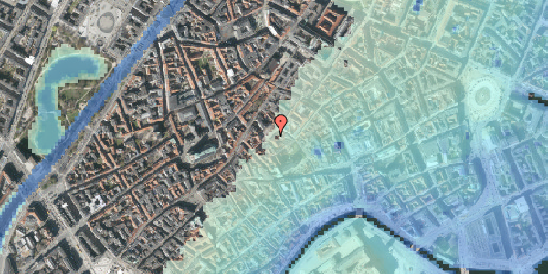 Stomflod og havvand på Gråbrødretorv 9, 2. tv, 1154 København K