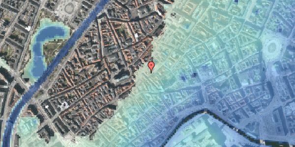 Stomflod og havvand på Gråbrødretorv 16A, 2. , 1154 København K