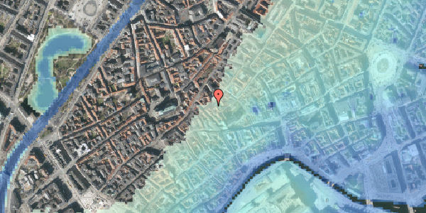 Stomflod og havvand på Gråbrødretorv 17, 1. , 1154 København K