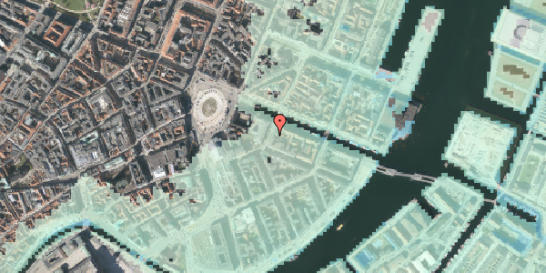 Stomflod og havvand på Heibergsgade 16, st. th, 1056 København K