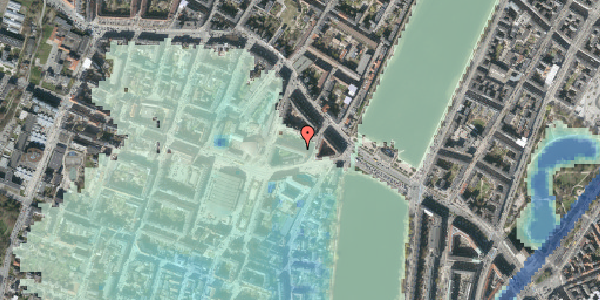 Stomflod og havvand på Herman Triers Plads 3, 4. 2, 1631 København V