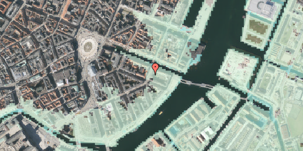 Stomflod og havvand på Holbergsgade 28A, 4. tv, 1057 København K
