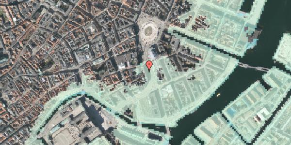 Stomflod og havvand på Holmens Kanal 2, kl. , 1060 København K