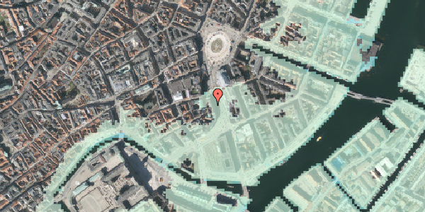 Stomflod og havvand på Holmens Kanal 2, 3. , 1060 København K