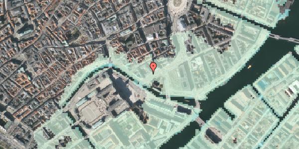Stomflod og havvand på Holmens Kanal 22, kl. , 1060 København K