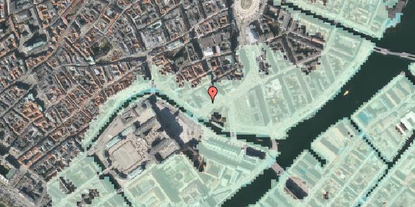 Stomflod og havvand på Holmens Kanal 22, 4. , 1060 København K