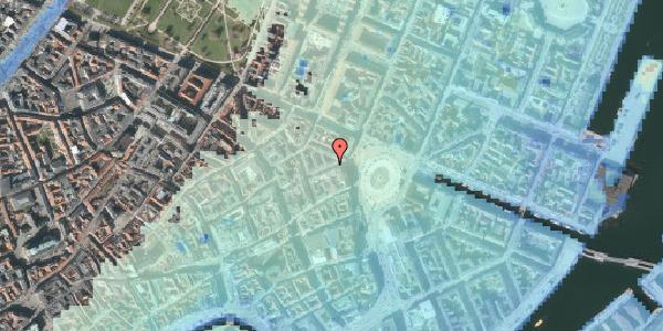 Stomflod og havvand på Hovedvagtsgade 4, 1. , 1103 København K