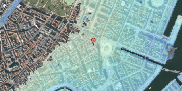 Stomflod og havvand på Hovedvagtsgade 6, 1. th, 1103 København K