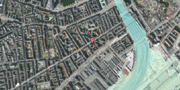 Stomflod og havvand på Istedgade 23, 5. th, 1650 København V