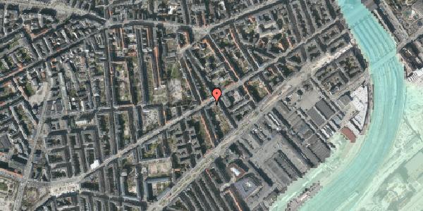 Stomflod og havvand på Istedgade 43B, 2. th, 1650 København V