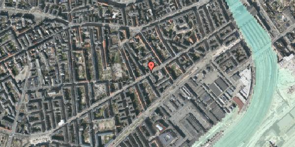 Stomflod og havvand på Istedgade 50, 1. , 1650 København V