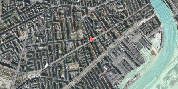 Stomflod og havvand på Istedgade 51A, 1650 København V