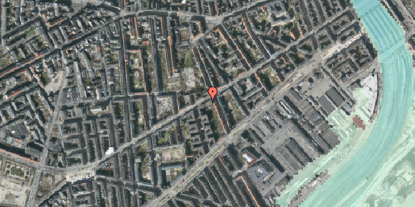 Stomflod og havvand på Istedgade 51B, 1. tv, 1650 København V