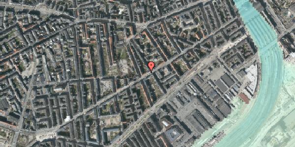 Stomflod og havvand på Istedgade 56A, 1650 København V