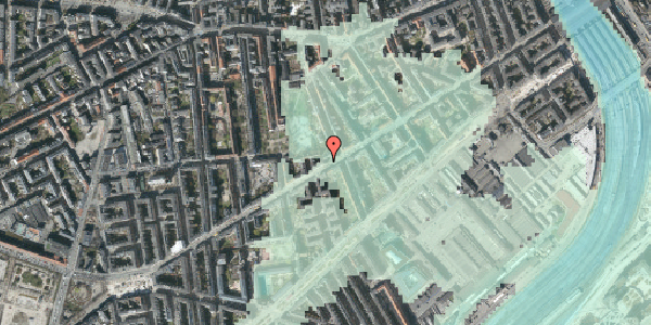 Stomflod og havvand på Istedgade 64, st. 2, 1650 København V