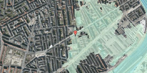 Stomflod og havvand på Istedgade 67, 3. th, 1650 København V