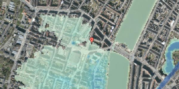 Stomflod og havvand på Julius Thomsens Gade 14, kl. 3, 1632 København V