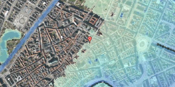 Stomflod og havvand på Klareboderne 1, 1115 København K