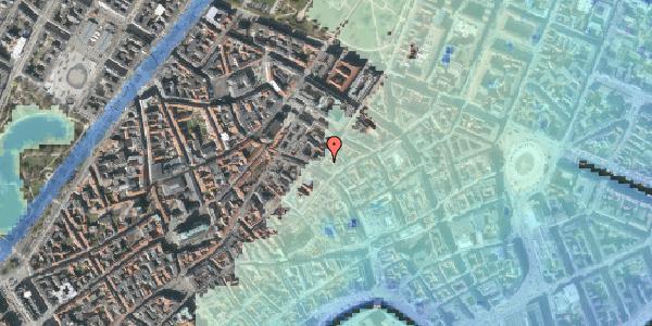 Stomflod og havvand på Klareboderne 4, 3. , 1115 København K