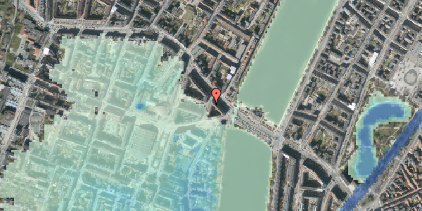 Stomflod og havvand på Kleinsgade 1, 1. 2, 1633 København V