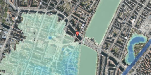 Stomflod og havvand på Kleinsgade 1, 2. 3, 1633 København V