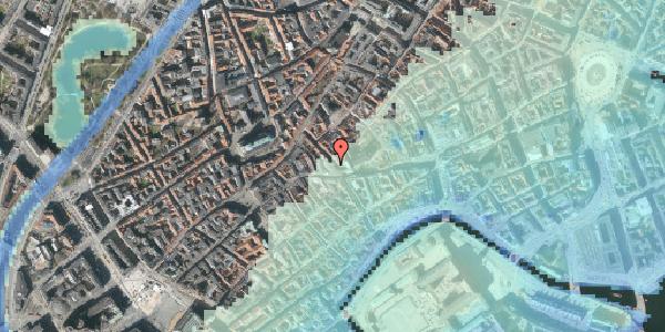 Stomflod og havvand på Klosterstræde 1, 4. , 1157 København K