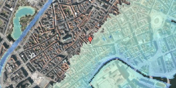 Stomflod og havvand på Klosterstræde 6, st. , 1157 København K