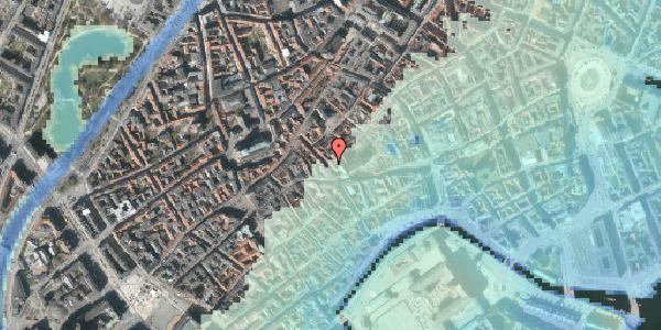 Stomflod og havvand på Klosterstræde 8, kl. , 1157 København K