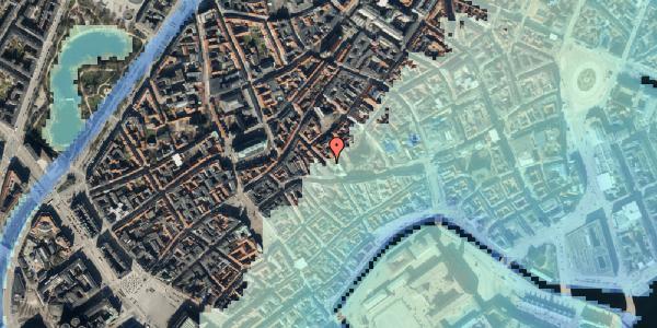 Stomflod og havvand på Klosterstræde 8, 4. , 1157 København K
