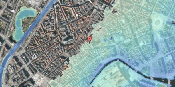 Stomflod og havvand på Klosterstræde 12, 4. tv, 1157 København K