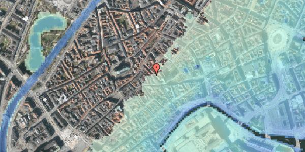 Stomflod og havvand på Klosterstræde 13, 4. , 1157 København K