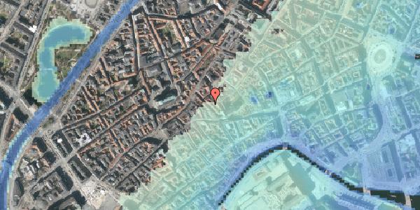 Stomflod og havvand på Klosterstræde 14, kl. , 1157 København K