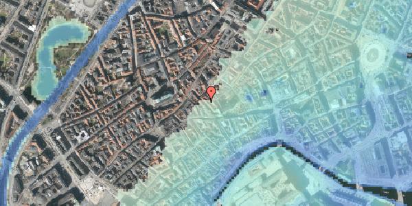 Stomflod og havvand på Klosterstræde 14, st. , 1157 København K