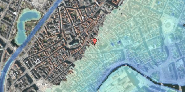 Stomflod og havvand på Klosterstræde 16, kl. , 1157 København K