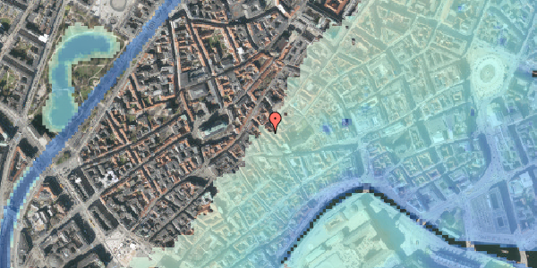 Stomflod og havvand på Klosterstræde 16, 2. , 1157 København K